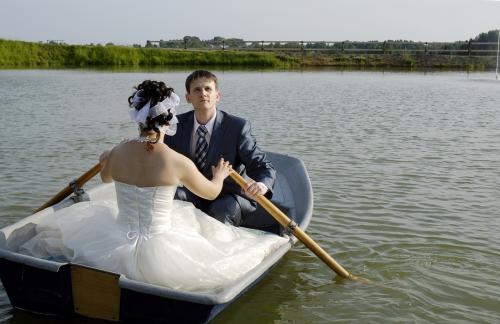 foto ślubne - jezioro