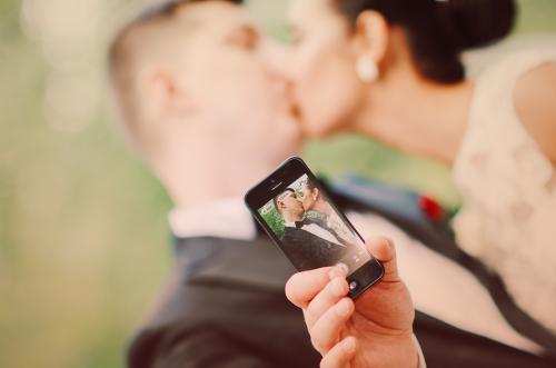 sesja ślubna selfie