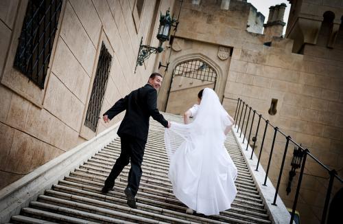 sesja ślubna - zamek, pałac